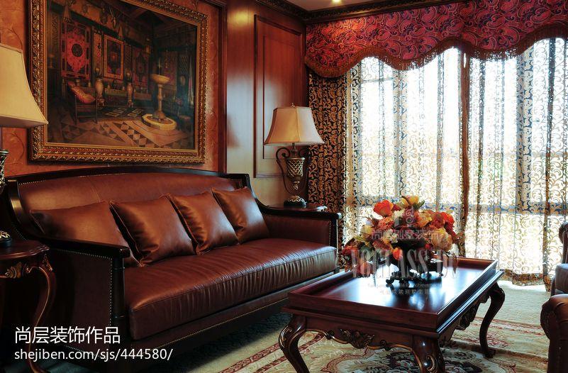 热门面积131平别墅客厅混搭装修图片欣赏