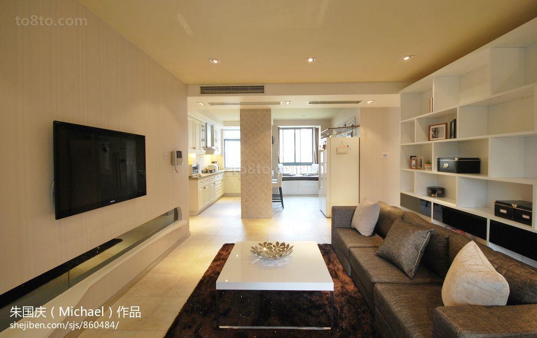 客厅电视墙装修效果图大全2013