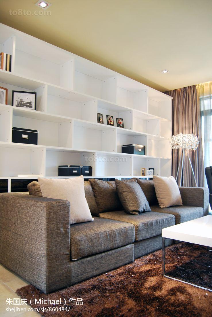客厅深色布沙发装修效果图
