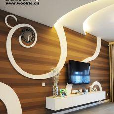 精选大小83平现代二居客厅装饰图