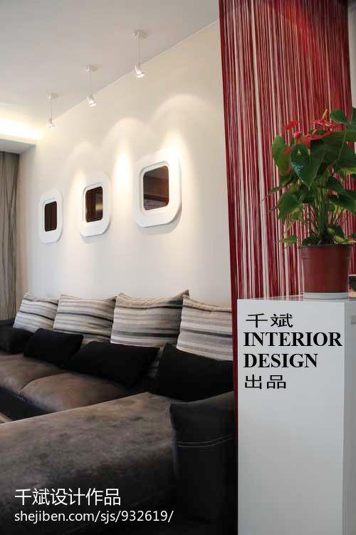 精美93平米3室混搭装修设计效果图片