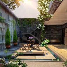 精选面积111平别墅阳台混搭装修设计效果图片