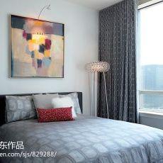 卧室阳台窗帘图片