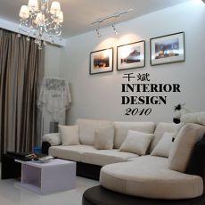 热门77平米二居客厅现代装修欣赏图