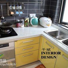 精美94平方三居厨房混搭实景图片欣赏