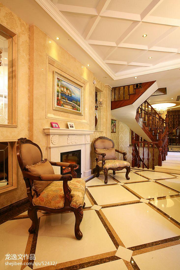 精选117平米欧式别墅客厅效果图片大全