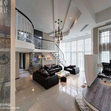 现代风格复式客厅装修效果图片