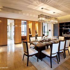 热门102平方三居餐厅混搭装修实景图片欣赏