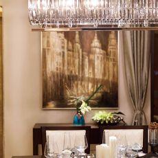 面积96平混搭三居餐厅欣赏图片大全
