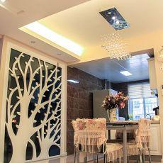 热门大小104平现代三居餐厅装饰图