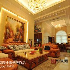 精美面积94平欧式三居客厅装修实景图片欣赏