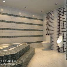 精美面积144平别墅卫生间混搭实景图片欣赏