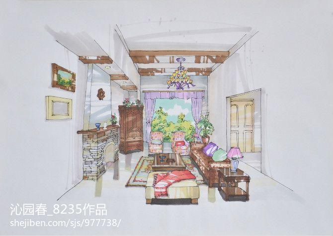 112平米现代别墅客厅装修效果图