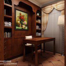面积100平混搭三居书房装修实景图
