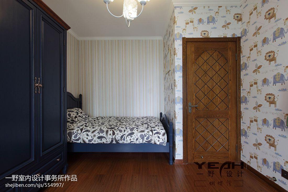 美式乡村风格卧室背景墙装修效果图