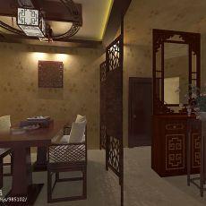 暖色调小户型餐厅装修设计