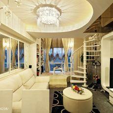 精选131平米混搭复式客厅装修效果图片