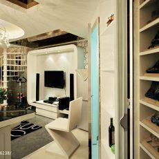 面积131平复式客厅混搭装饰图