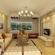 热门91平方三居客厅现代装修欣赏图片