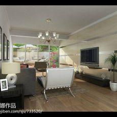 大小95平现代三居客厅装修实景图片欣赏
