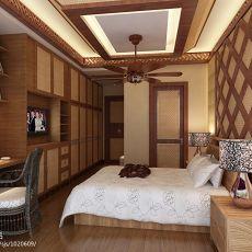 热门面积135平复式卧室混搭装修效果图片