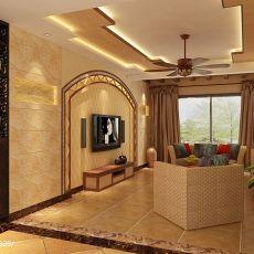 2018111平米混搭复式客厅装修设计效果图片欣赏