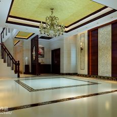 热门面积124平别墅客厅混搭实景图