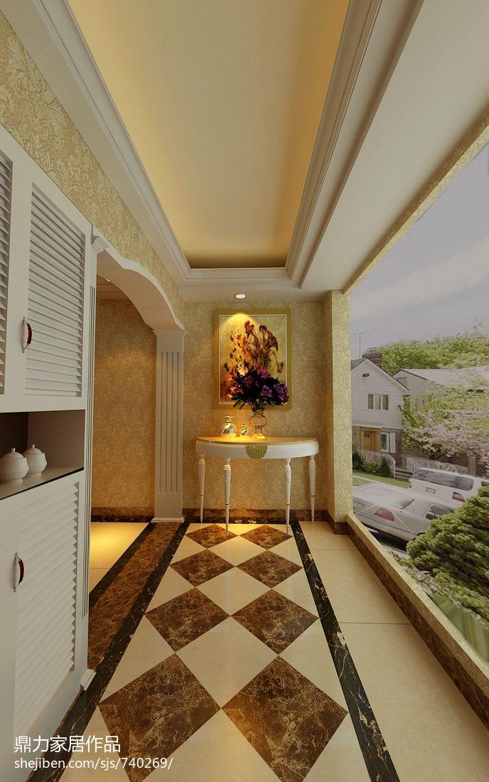 豪华美式风格的客厅设计效果图