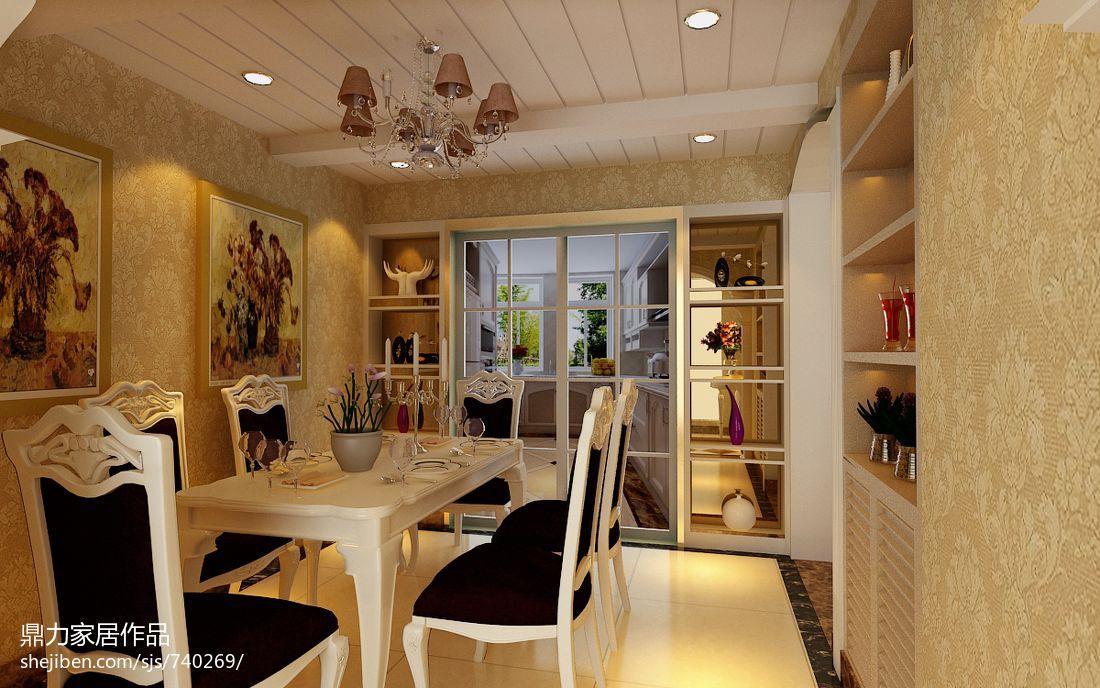 豪华美式风格的餐厅设计效果图