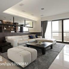 面积84平小户型客厅混搭装修欣赏图