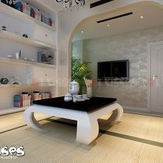 东南亚风格设计室内书房效果图片