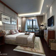 96平米三居卧室混搭实景图