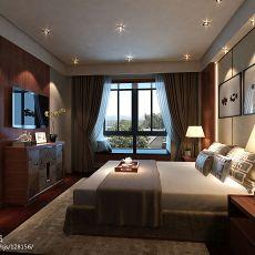 2018精选90平米三居卧室混搭装饰图片大全