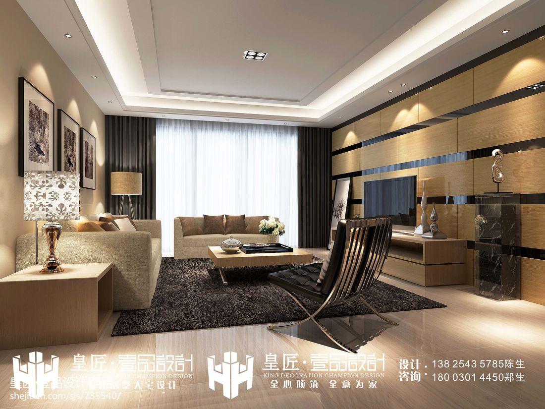 现代日式风格客厅效果图大全