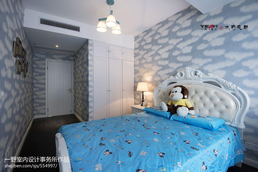 欧式风格卧室背景墙设计效果图