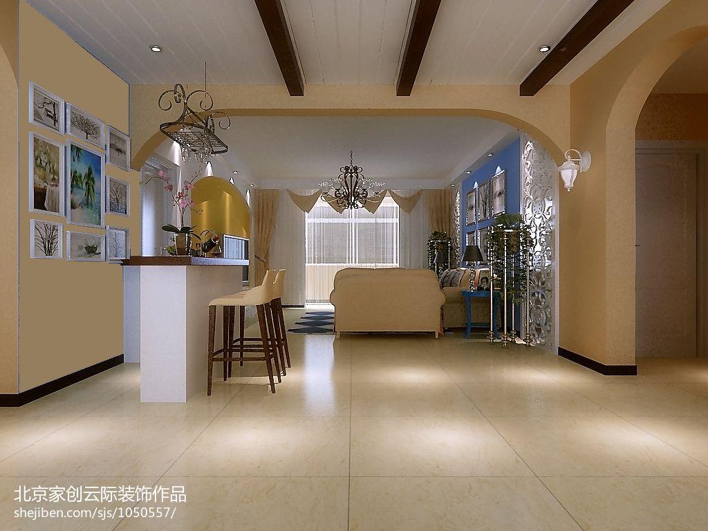 美式家装厨房大理石灶台装修图片