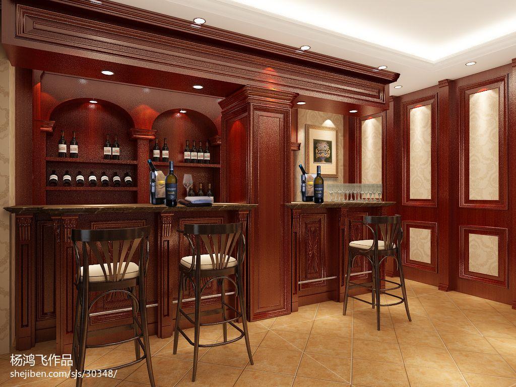 欧式吧台酒柜装修设计图片