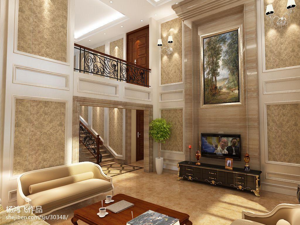 欧式风格复式客厅效果图片欣赏