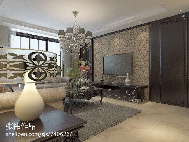 日式家装卧室电视背景墙效果图