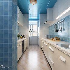 2018107平米三居厨房混搭装饰图片