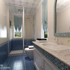 面积98平混搭三居卫生间装饰图片欣赏