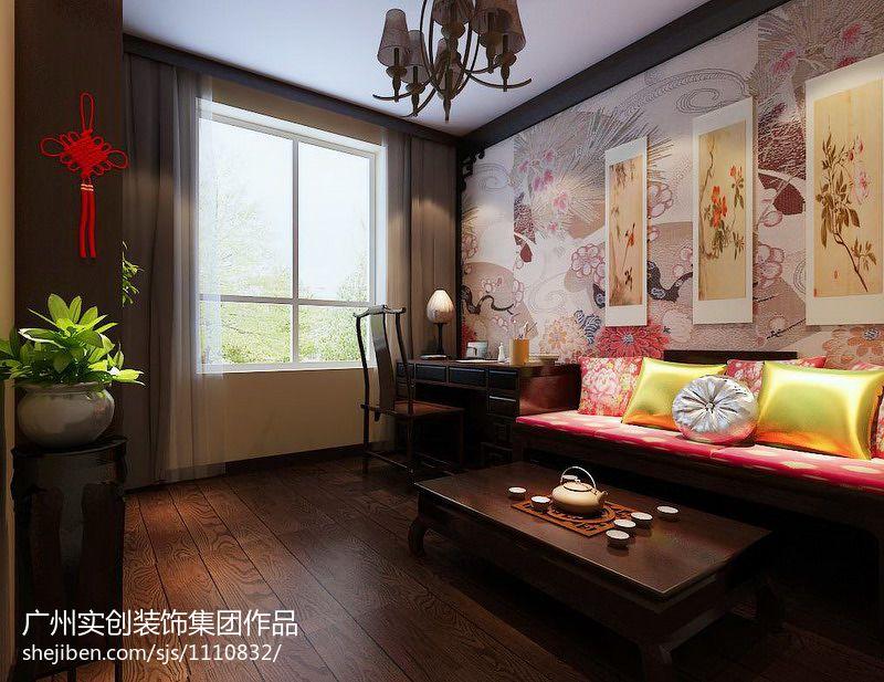 中式风格卧室装修效果图大全欣赏