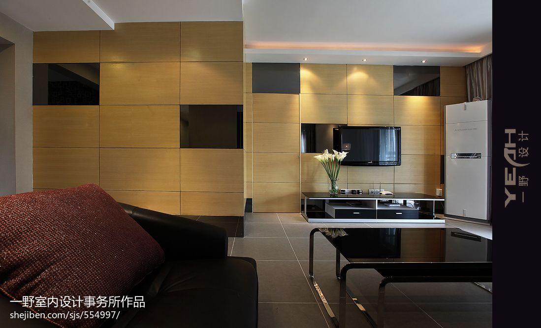 現代簡約風格客廳隱形門裝修圖