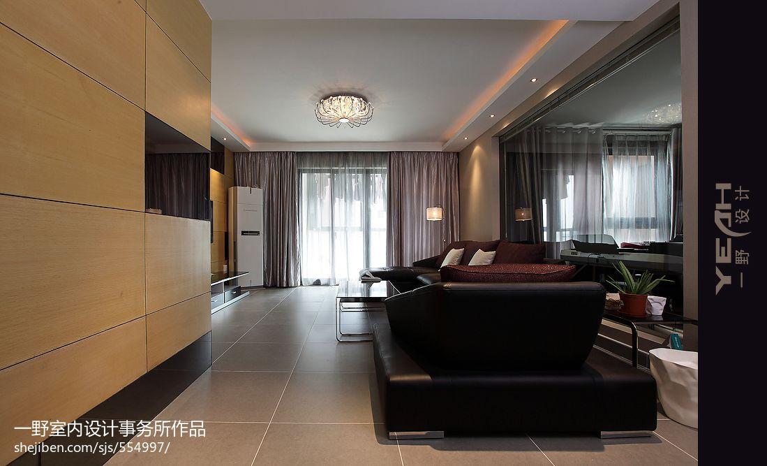 現代簡約風格客廳吊頂設計