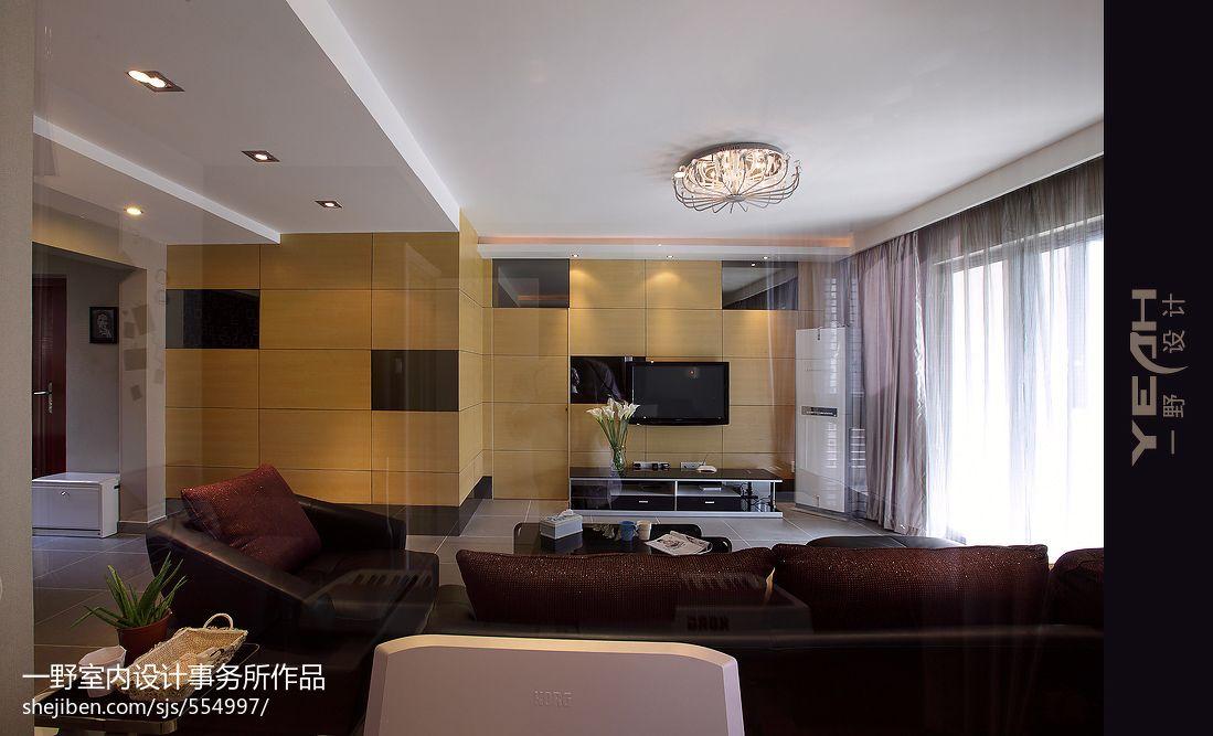 現代簡約風格家裝客廳吊頂圖片