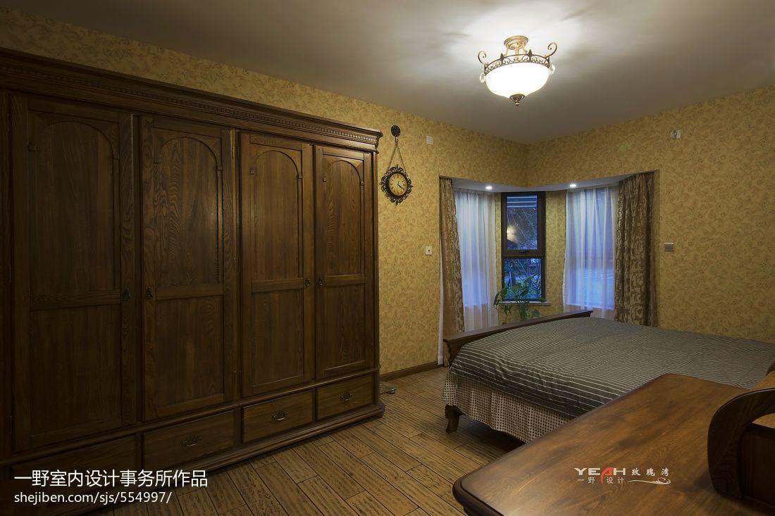 美式风格卧室衣柜装修设计