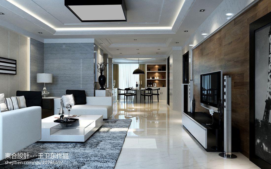 现代小户型家居电视背景墙设计效果图片