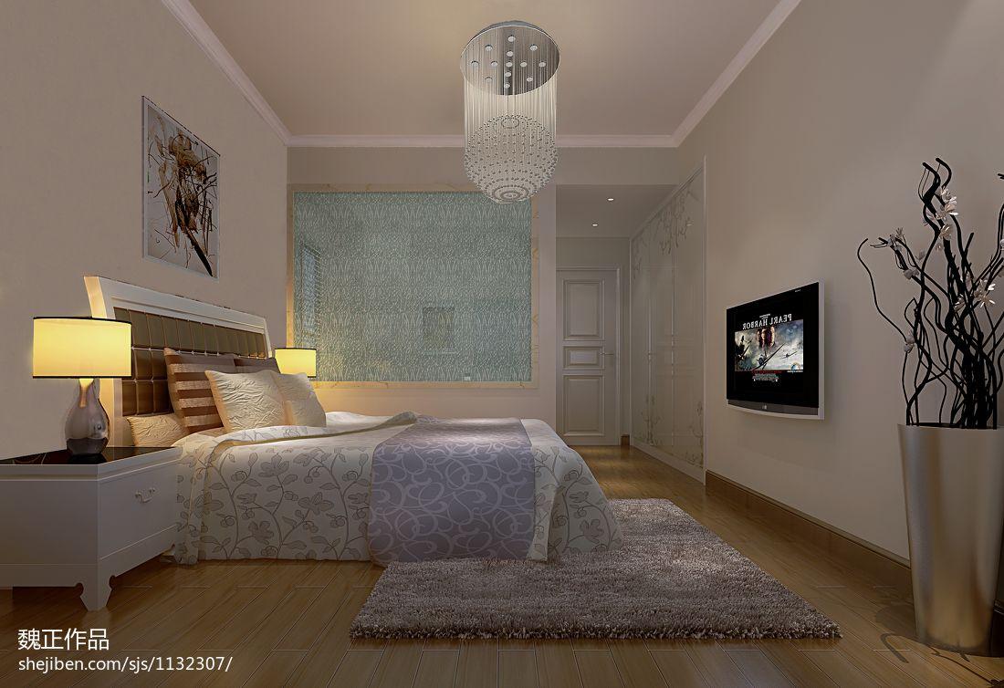 现代简约设计室内卧室装修效果图片