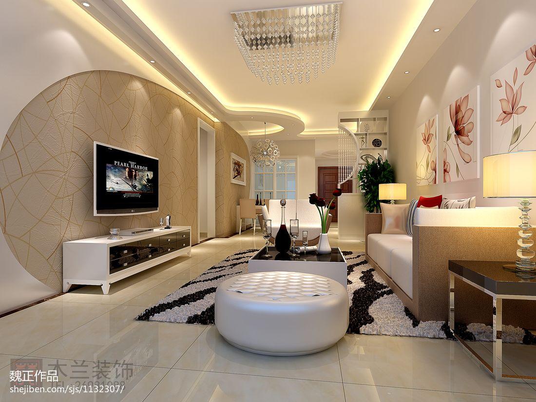 现代简约设计三居室内装修图片