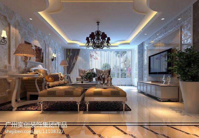 精美面积90平现代三居装修实景图